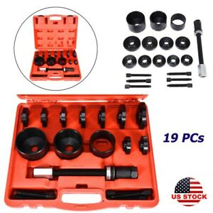 19pc Master Set Front Wheel Drive Bearing Removal Install Service Tool Kit Usa