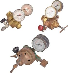 Mixed Lot Of 3 Airco Single dual stage Gas Regulator Units