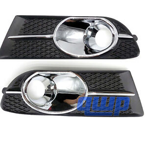 Pair Front Left Right Bumper Fog Light Bezel Lamp Trim For Buick Verano 13 16