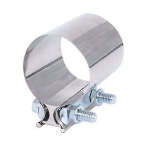 4 Stainless Steel Butt Joint Band Exhaust Clamp Sleeve Coupler T 304