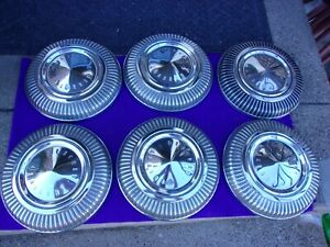 1966 1967 1968 Mercury Cougar Comet Very Nice Dog Dish Style Hub Caps 6 Total