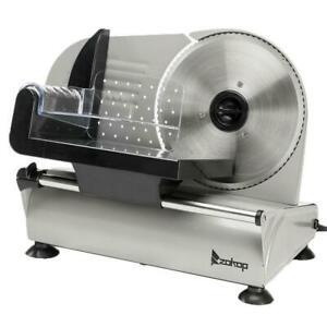 Zokop 7 5 Commercial Meat Slicer Deli Veggie Cheese Food Cutter Kitchen Steel