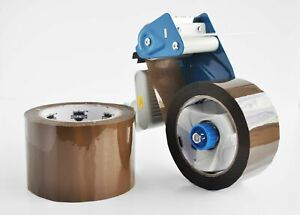 36 Rolls 2 x110 Yd 330 Brown Hotmelt Packing Tape 1 6 Mil Free 2 Dispenser