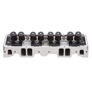 Edelbrock 61019 Performer Rpm Assembled Cylinder Heads For Chevy Small Bore