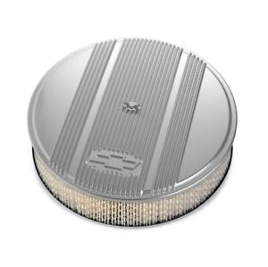 Holley 120 166 14 X 3 Air Cleaner Kit W Paper Filter Gm Logo