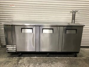 3 Door Stainless Steel Back Bar Cooler Pass Through True Tbb 4pt s 2737