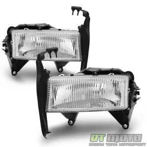 1997 2004 Dodge Dakota Durango Headlights Replacement Headlamps W Bracket 97 04