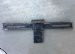 Vintage Rat Rod License Plate Bracket Black 11 Dodge Plymouth Mopar
