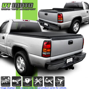 Roll Up Tonneau Cover For 1999 2006 Chevy Silverado Gmc Sierra 8ft Fleetside Bed