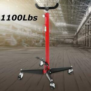 0 5t 1100lb Manual Transmission Jack Hydraulic Lift Pedestal 39 To 73 Height