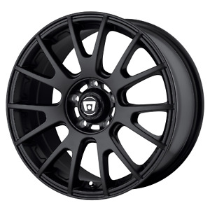 4 New Motegi Racing Mr118 Rims Set Of 4 17x8 45mm Offset 5x4 5 Black