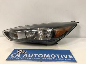 2015 2016 2017 2018 Ford Focus Headlight Left Lh Driver Black Halogen Oem D61