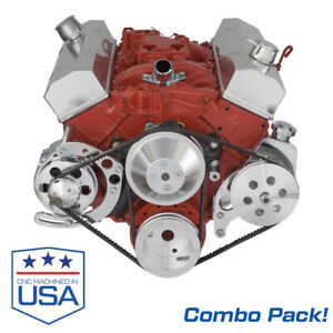 Small Block Chevy Alternator And Power Steering Brackets Combo Long Pump Sbc 350