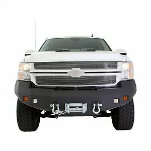 Smittybilt M1 Chevy Truck Winch Mount Front Bumper With D ring Mounts And Light