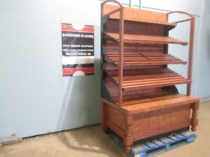 H d Commercial High end Stained Wood Finish Self serve Open Bakery Display Case