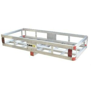 Hitch Mount Aluminum Cargo Carrier Rack For Hauling Transporting Lightweight New