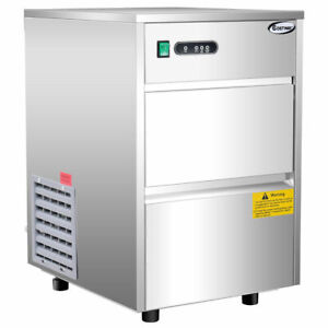 Automatic Ice Maker Stainless Steel 58lbs 24h Freestanding Commercial Home Use