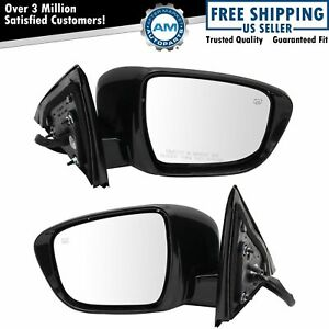 Mirror Pair Power Heated Memory Turn Signal Camera Paint To Match Lh Rh Sides