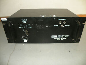 Wilcoxon Research N7c Matching Network Piezo Shaker Amplifier Voltage Supply