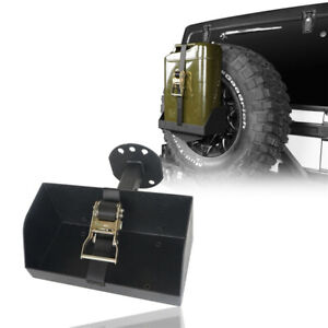 Spare Tire Jerry Can Holder Rack W Tall Tray For Jeep Wrangler Tj Jk Jl 97 20