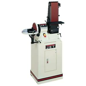 Jet 6 X 48 Inch Belt And 9 In. Disc Sander Closed Stand Table 34 HP 115 Volt