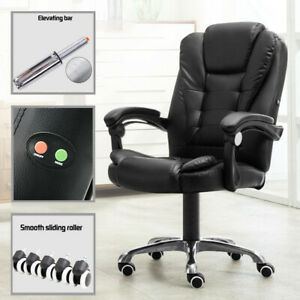High Back Office Chair Ergonomic Recliner Pu Leather Computer Desk Game Chair Co
