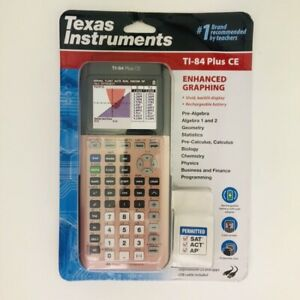 Texas Instruments Ti 84 Plus Ce Color Graphing School Calculator Rose Gold New