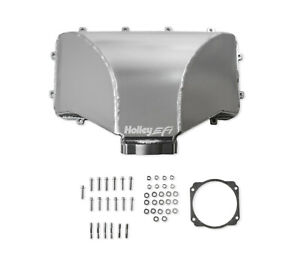 Holley 300 286 Hi Ram 105mm Fabricated Side Mount Plenum Top Fit 86 95 Ford 5 0l