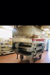 Double Stackable Gas Middleby Marshall Ps570g Conveyor Pizza Oven