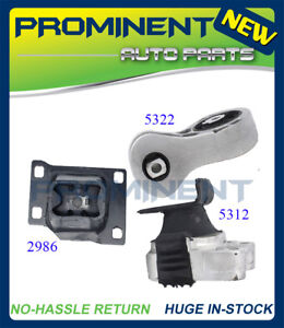 Motor Mounts M104 3 Pcs Replacement For 2008 2011 Ford Focus 2 0l At