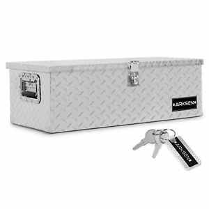 30 Aluminum Diamond Plate Tool Box Pick Up Trailer Storage Silver