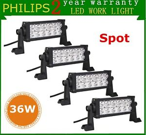 4x 8inch 36w Led Light Fog 4wd Spot Truck Ute Ford Car Offroad Driving Lamp Roof