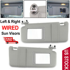 Left Right Sun Visor For 2007 2011 Toyota Camry And Camry Hv With Sunroof Light