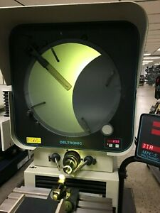 14 Deltronic Model Dh214 Optical Comparator W dro 20x Lens Stand