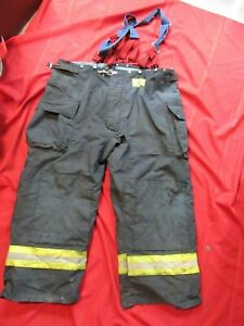 Morning Pride Bunker Pants Turnout Gear Fdny Style Size 50 X 30 Suspenders
