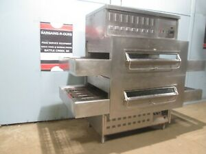 middleby Marshall Ps 350g 1 Commercia Dbl Stacked Nat Gas Conveyor Pizza Oven