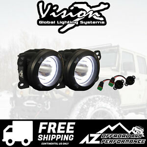 Vision X Vspec Upgrade Fog Light Kit For 10 18 Jeep Wrangler Jk 9891828