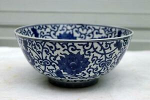 Blue White Chinese Porcelain Ming Mark Bowl
