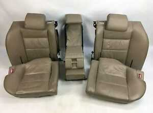 Bmw E32 7 Series Parchment Tan Leather Power Rear Seats Cushions 1987 1994 Oem