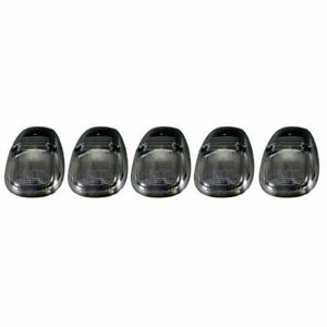 Recon 264145bk Smoked Lens Led Cab Roof Lights Kit For 1999 2002 Dodge