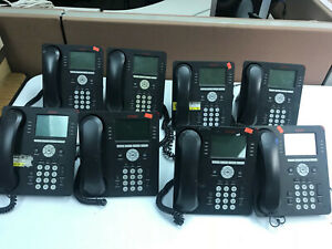Lot Of 8 Avaya 9608 Voip Desktop Office Phones Removed From Working Office