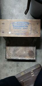 Vintage Mechanic Roller Seat Wood Creeper Stool With Tool Tray Craftsman Sears