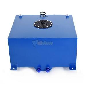 8 Gallon Universal Aluminum Racing Drift Fuel Cell Tank Level Sender Blue