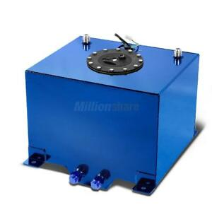 New 8 Gallon Aluminum Alloy Fuel Cell Tank Fuel Level Sender Blue
