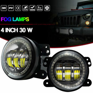 Fit Dodge Charger Journey Jeep Grand Cherokee Wrangler 30w Fog Driving Lights