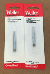 Lot Of 2 Weller Ptm6 Replacement Long Screwdriver Tip For Models Tcp Tc201 1 8