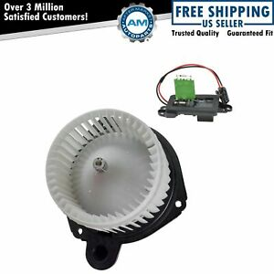 A c Ac Heater Blower Motor W Fan Cage Resistor Kit For Buick Chevy Gmc Olds