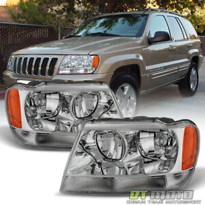 1999 2004 Jeep Grand Cherokee Headlights Headlamps Replacement 99 04 Left Right