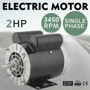 2 Hp Spl Compressor Duty Electric Motor 3450rpm 56frame 5 8 shaft 115 230 Volt Z