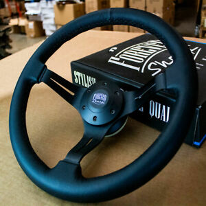 Black Leather Steering Wheel For Acura Rsx All Tl 97 Honda Accord Civic Us